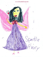 My daughter's drawing of Sparkle Fairy